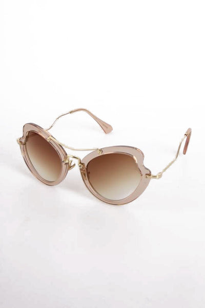 Chunky Over-sized Cat Eye Sunglasses
