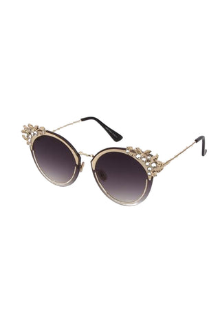 Cat Eye with Diamante Detailed Edges Sunglasses