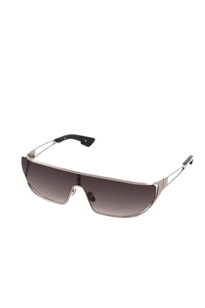 Visor Sunglasses with Metal Frame