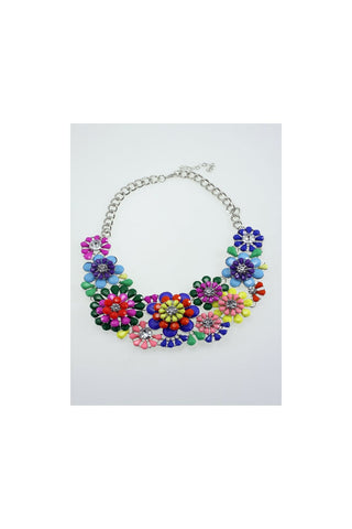 Floral Jewel Statement Necklace