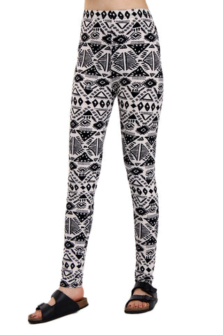 Geometric Print High Waisted Soft Leggings