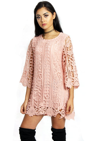 Lace Crochet Tunic Top