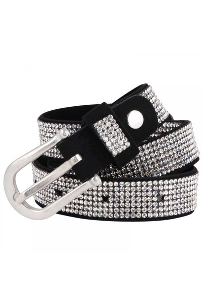 10 Rows Diamante Embellished Waist Hip Buckle Belt