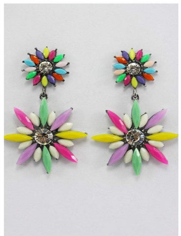 Multi color Neon colored earrings for women