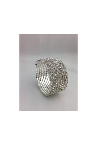 Diamante 7 row Wrap Around Bracelet 2