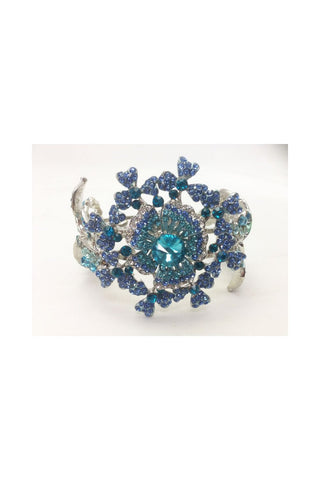Vintage Flower Diamante Bracelet