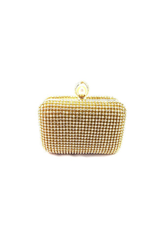 Small Diamante Ring Clutch Bag
