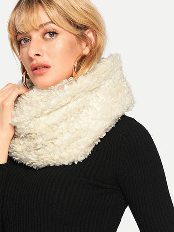 Soft Teddy Wooly Snood Scarf