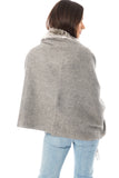Fur Cashmere & Wool Shawl Wrap