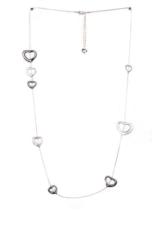 Multiple Heart Link Long Necklace
