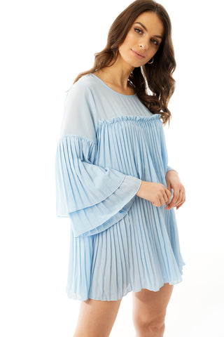 Pleated Smock Dress Top