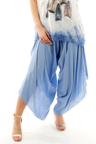 High Waisted Split Side Harem Pants