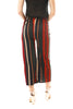 Black and Red Pin Stripe Culotte Stretch Trousers