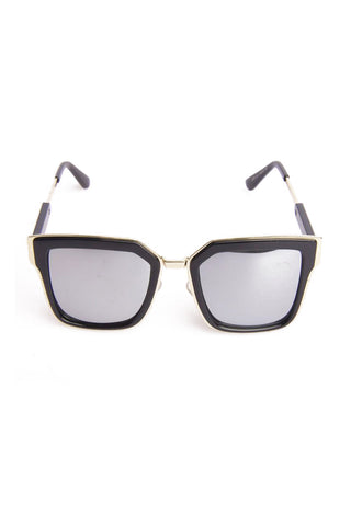 Square Gold Trim Sunglasses