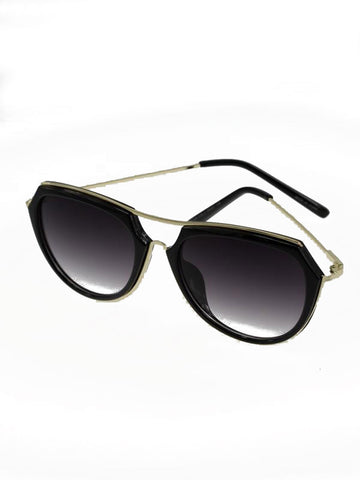 Round Curved Edge Sunglasses