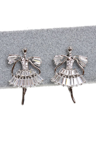 Cubic Zirconia Angel Stud Earrings