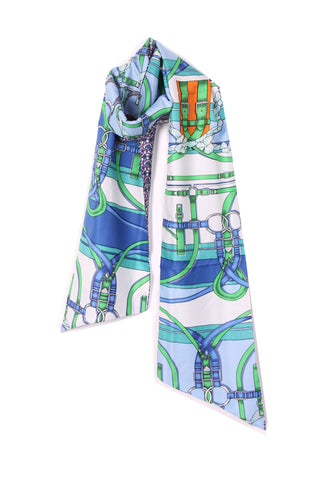 Reversible Silky Self Tie Neck & Head Scarf