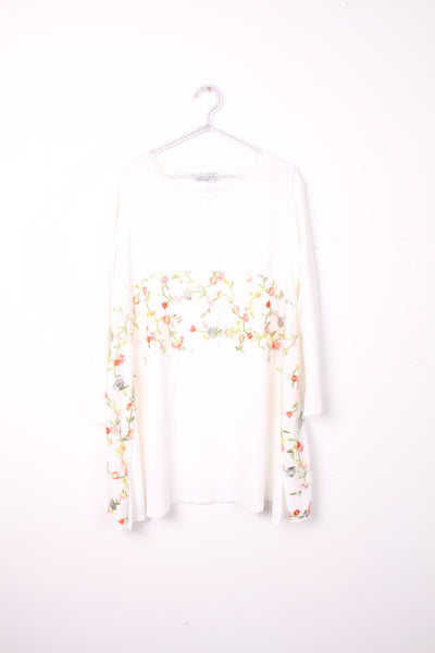 Floaty Embroidered front panel Dress