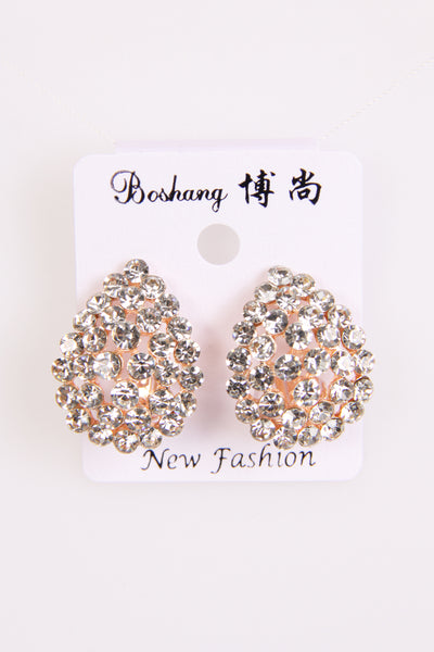 Roas gold Diamante Earrings