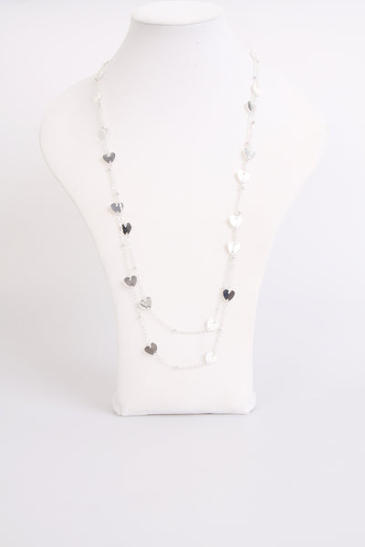 hearts necklace and chain long necklace
