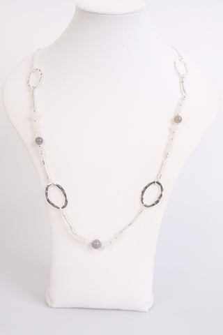 Stone Marble and abstract shape Long Necklace