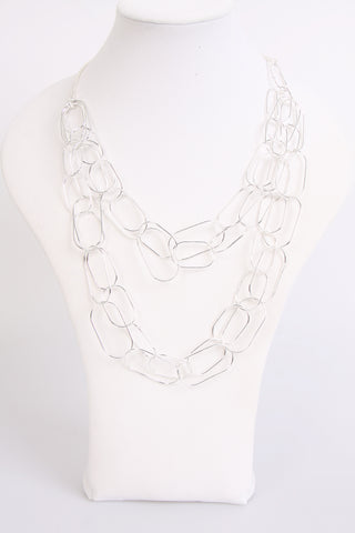 Sphere Chain Effect Lagen Look Necklace