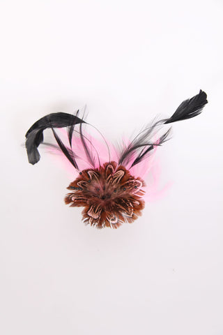 Feather Floral Clip On Fascinator