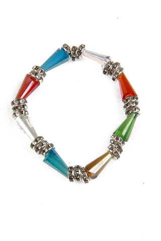 Multi Colour Bead Stretch Bracelet