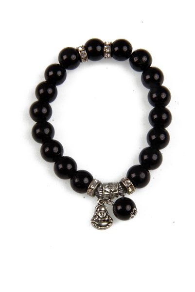 Beaded Stretch Bracelet with Buddha Pendant