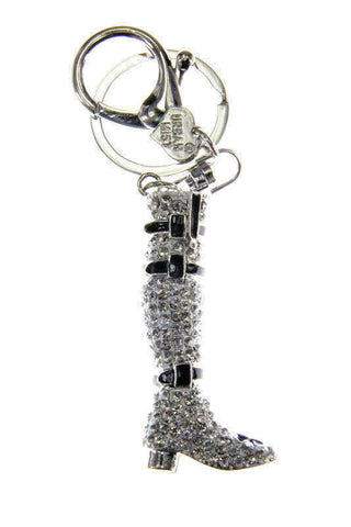 Boot Shoes Diamante Bag Charm Keyring