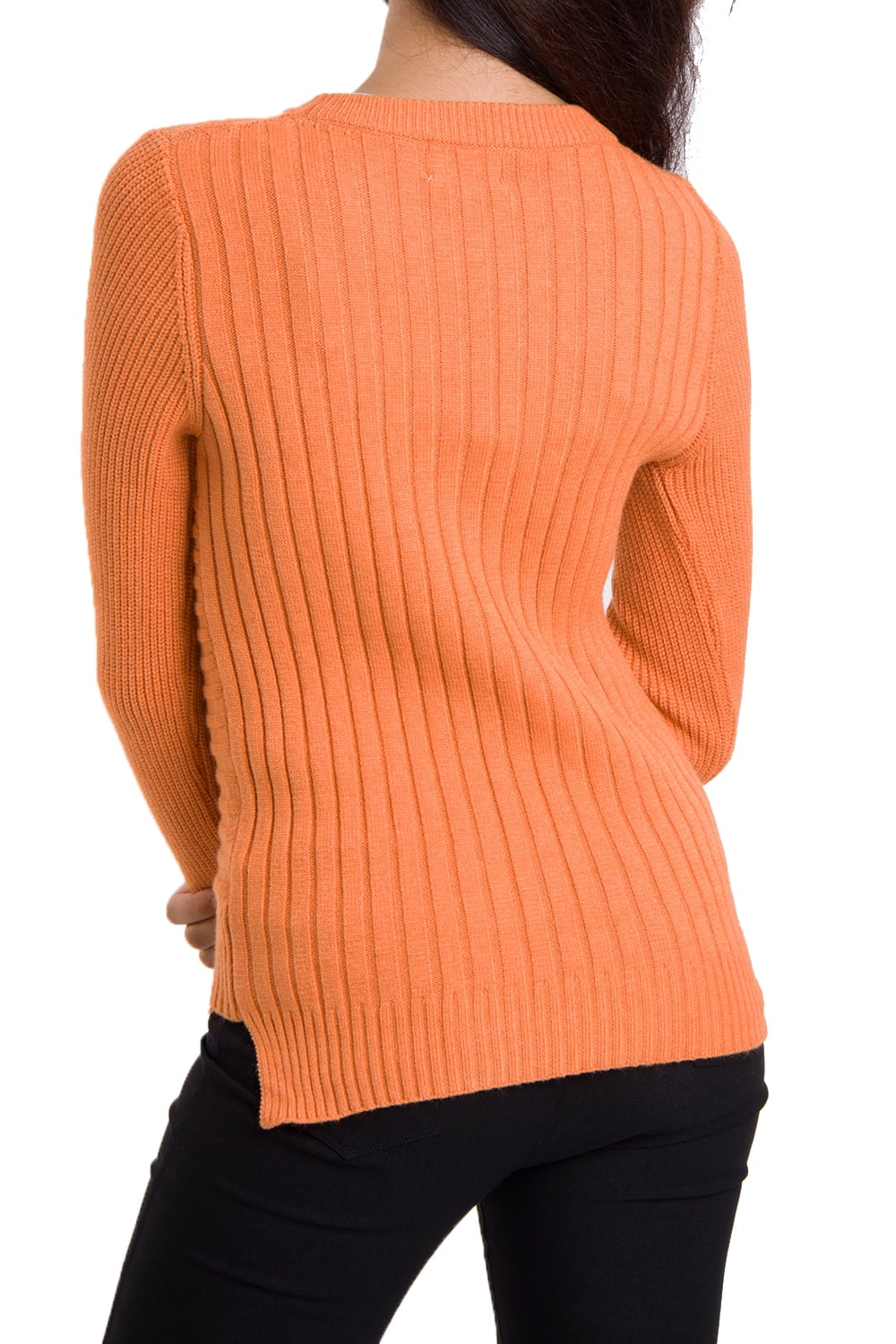 de5d5ce04f3 Soft Knitted Jumper with Cut- Away Hem – Urban Mist UK