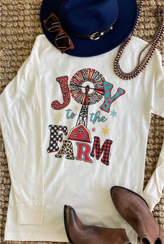 Joy To The Farm Long Sleeve