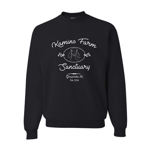 Black Kamins Farm Sanctuary Crewneck