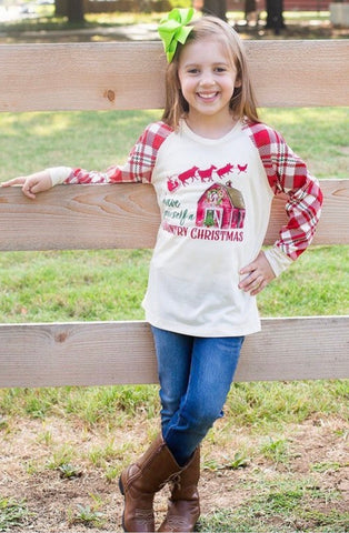 Have Yourself A Country Christmas - Girls Long Sleeve