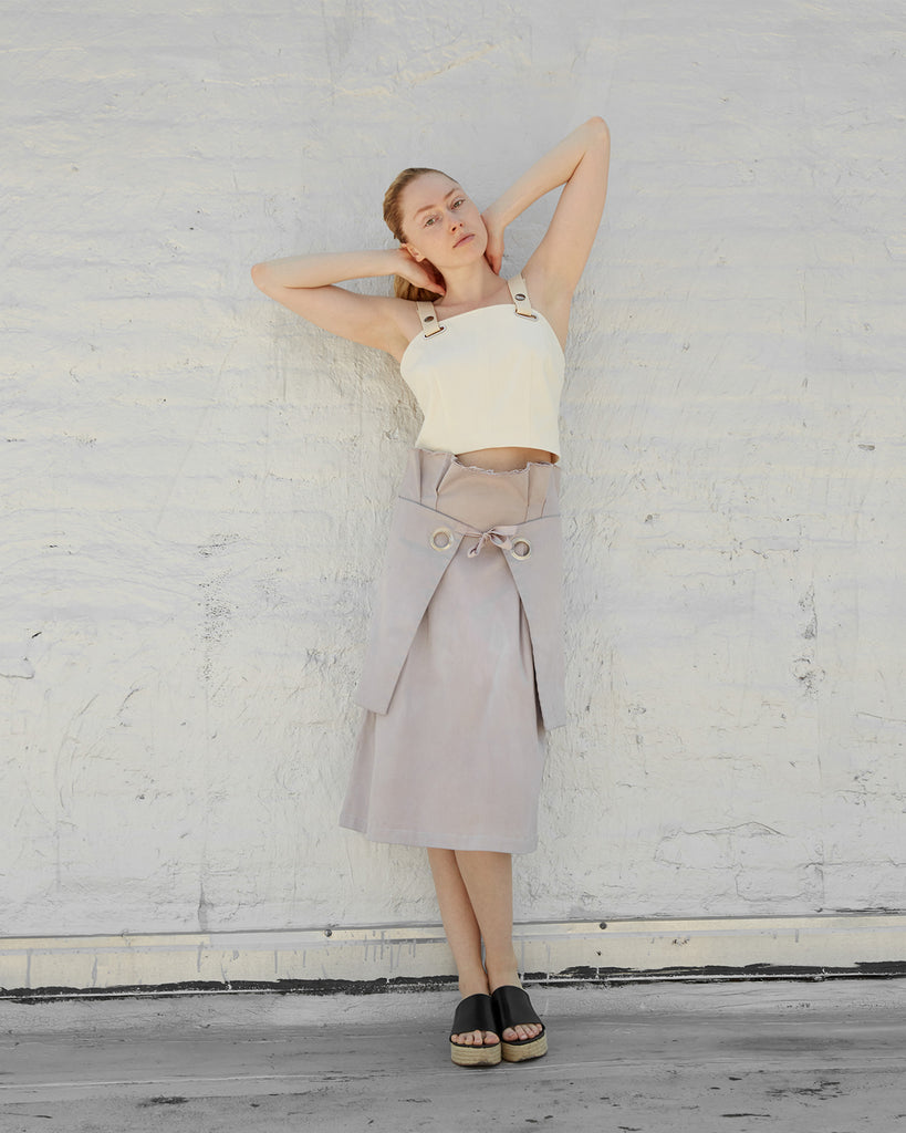 The Adah Skirt in Pearl Grey - INGA-LENA