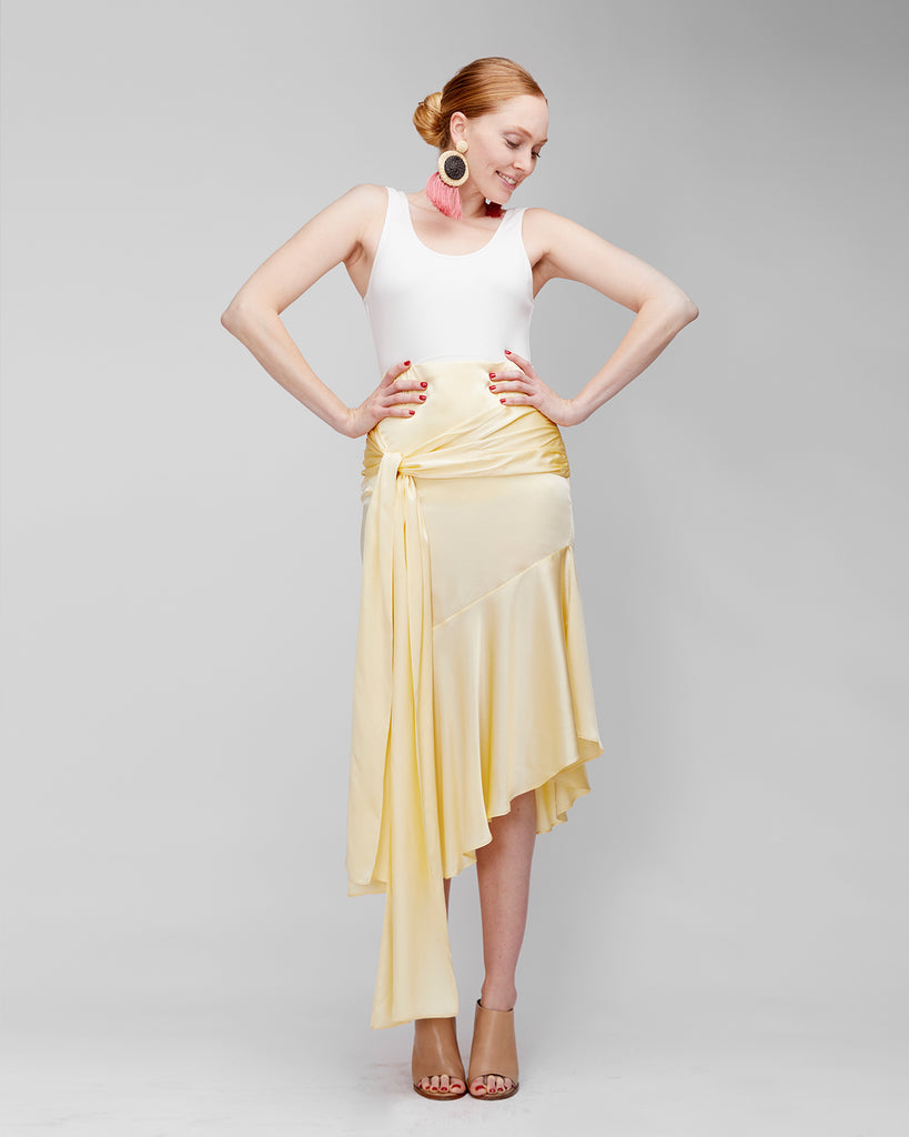 The Aleka Skirt in Flan - INGA-LENA