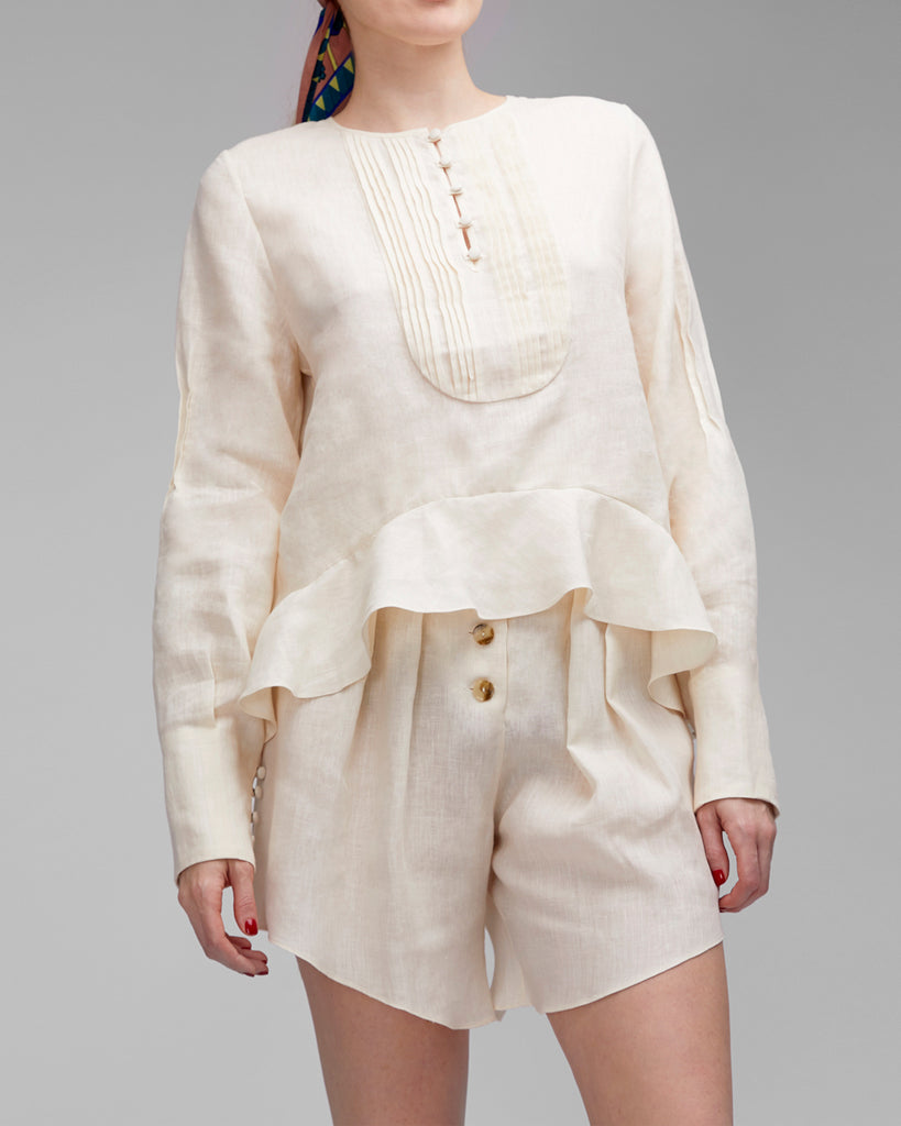 The Clara Blouse in Creme