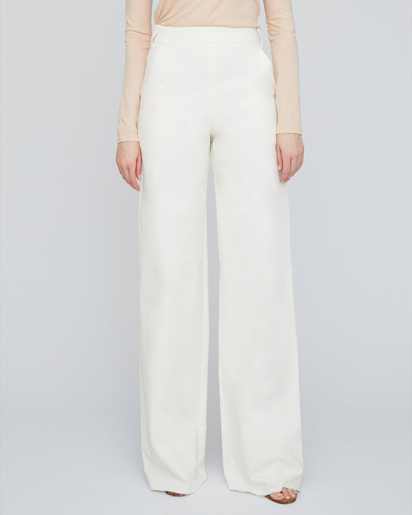 The Hampus Pant in Ivory - INGA-LENA