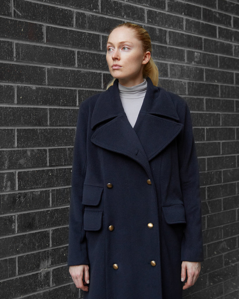 The Neah Coat in 100% Cashmere