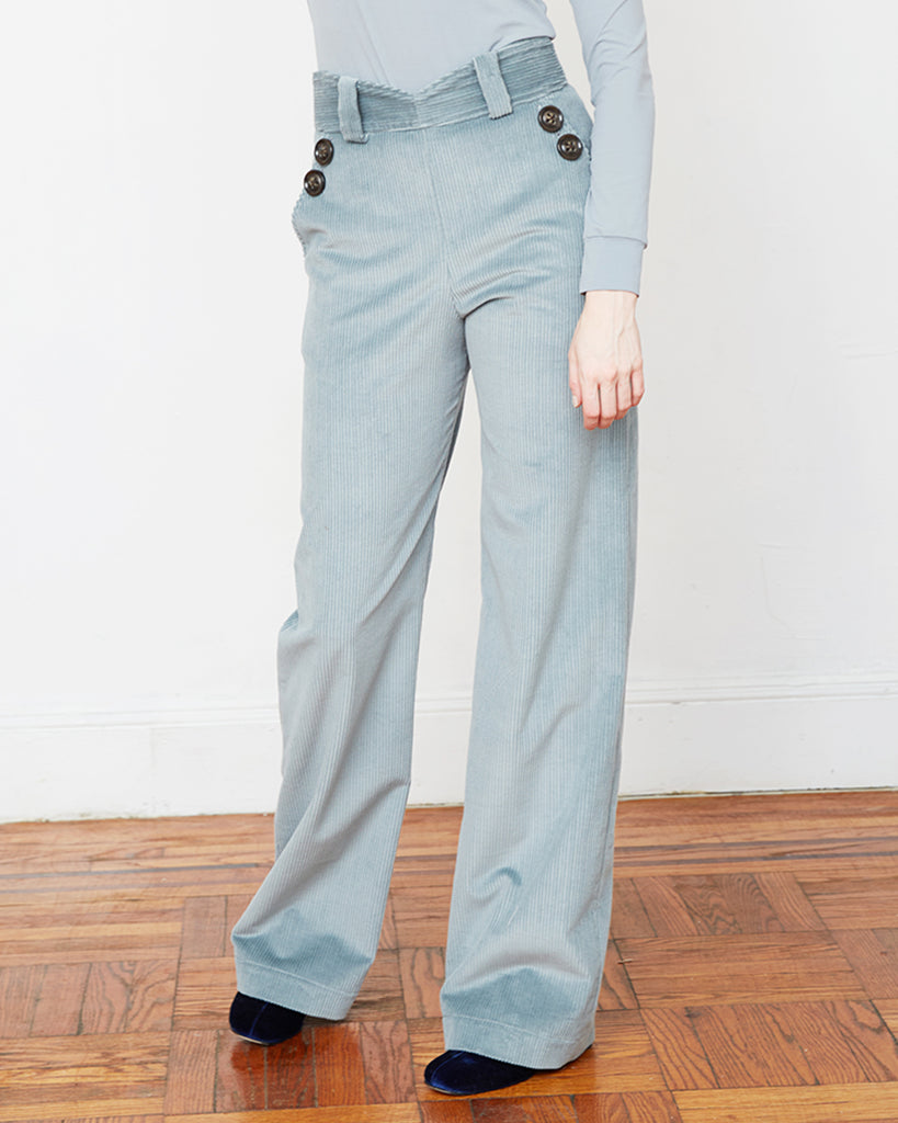 The Saga Pant in Grey Mist - INGA-LENA