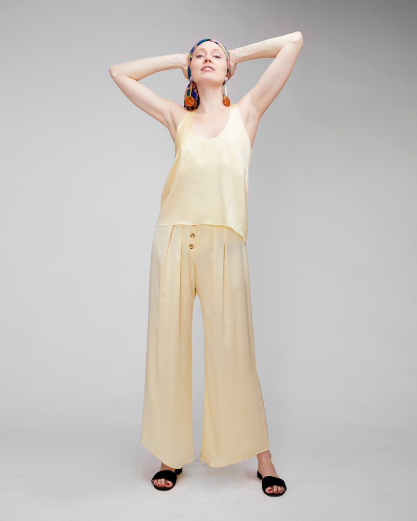 The Veiga Pant in Flan - INGA-LENA