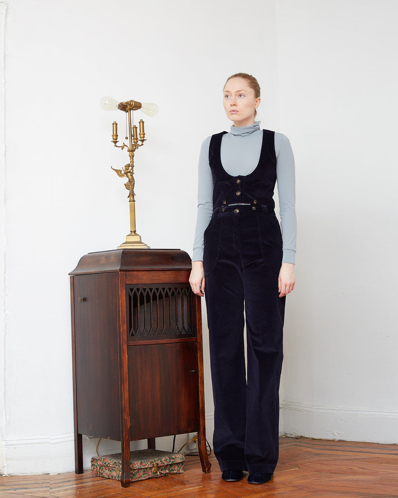 The Viveka Jumpsuit in Navy Blue - INGA-LENA
