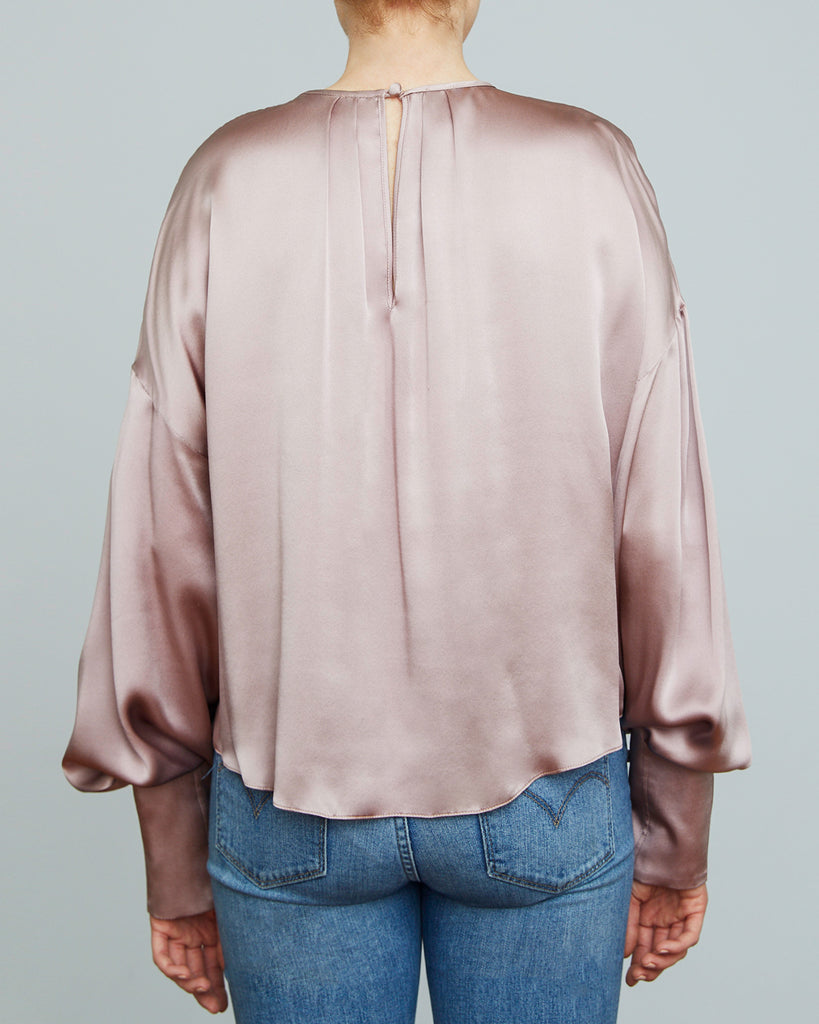 The Ylva Blouse in Dusty Rose - INGA-LENA