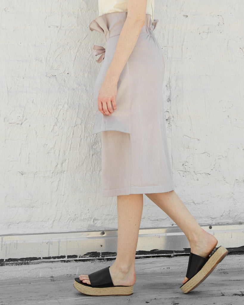 The Adah Skirt in Pearl Grey
