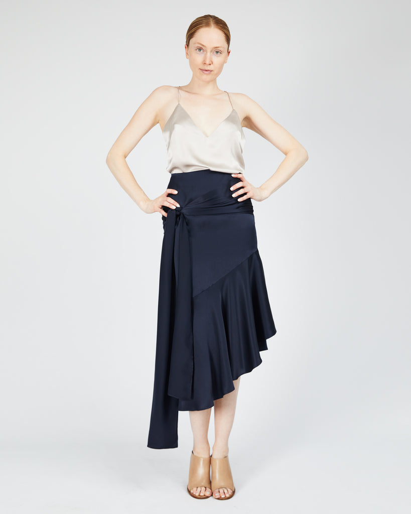 The Aleka Skirt in Midnight Blue - INGA-LENA