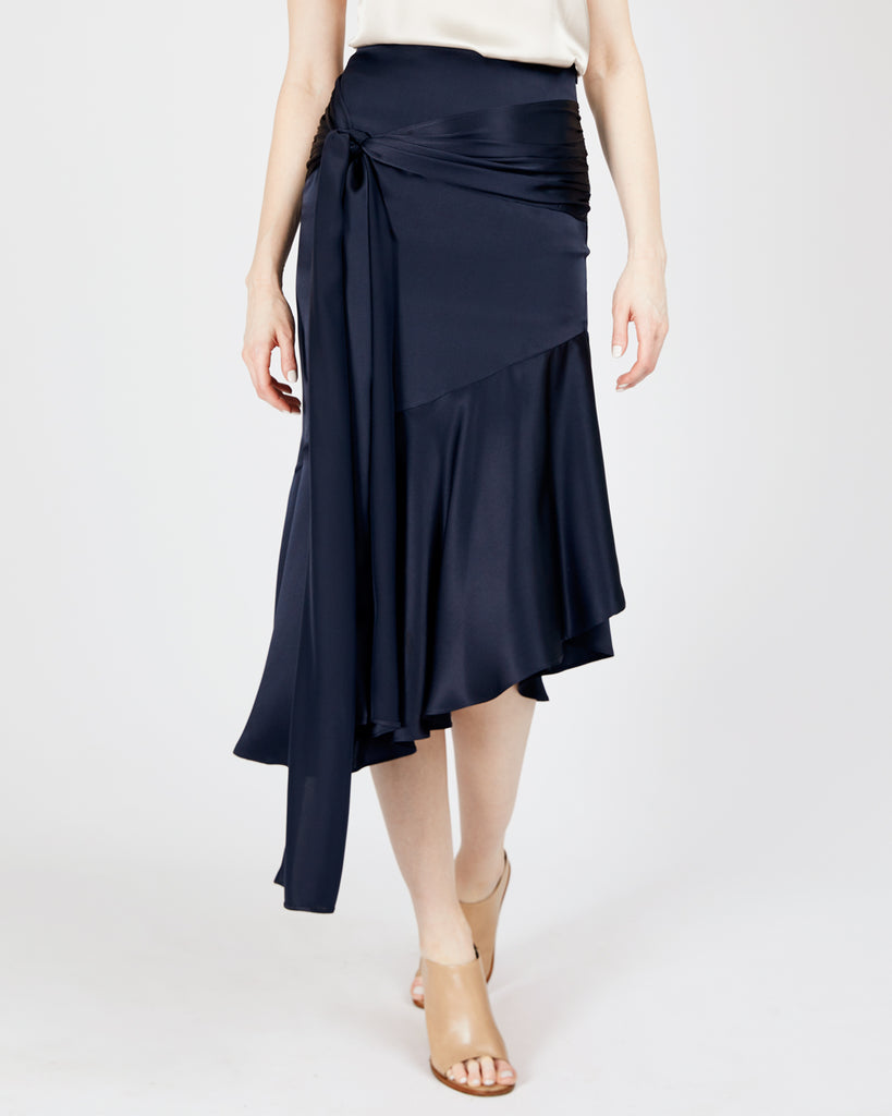 The Aleka Skirt in Midnight Blue