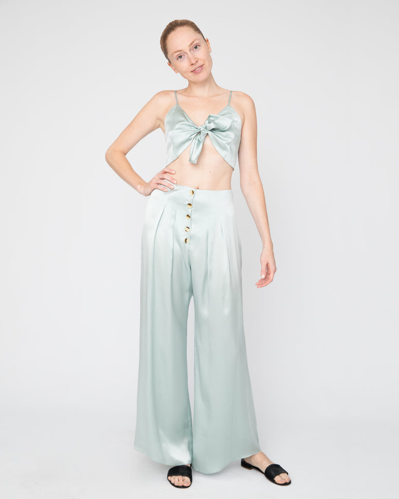The Anic Bustier in Teal Blue