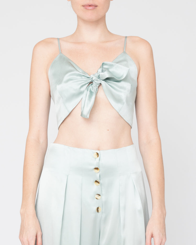 The Anic Bustier in Teal Blue - INGA-LENA