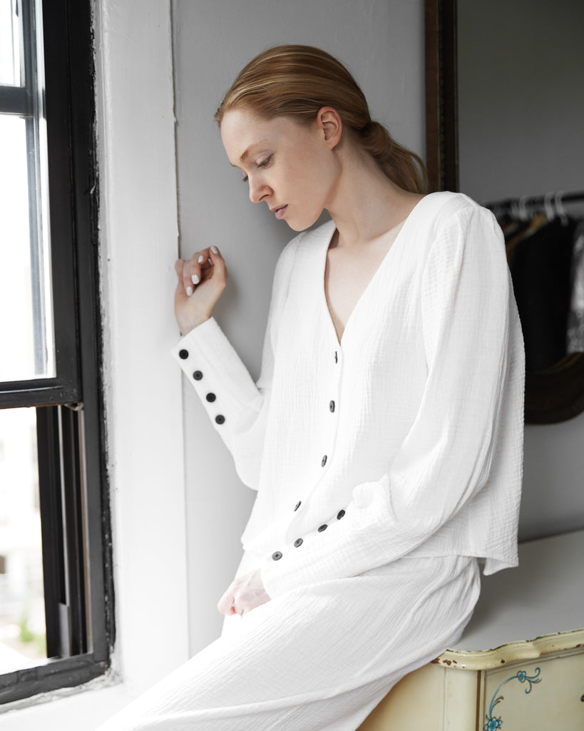 The Arja Blouse in Off-White