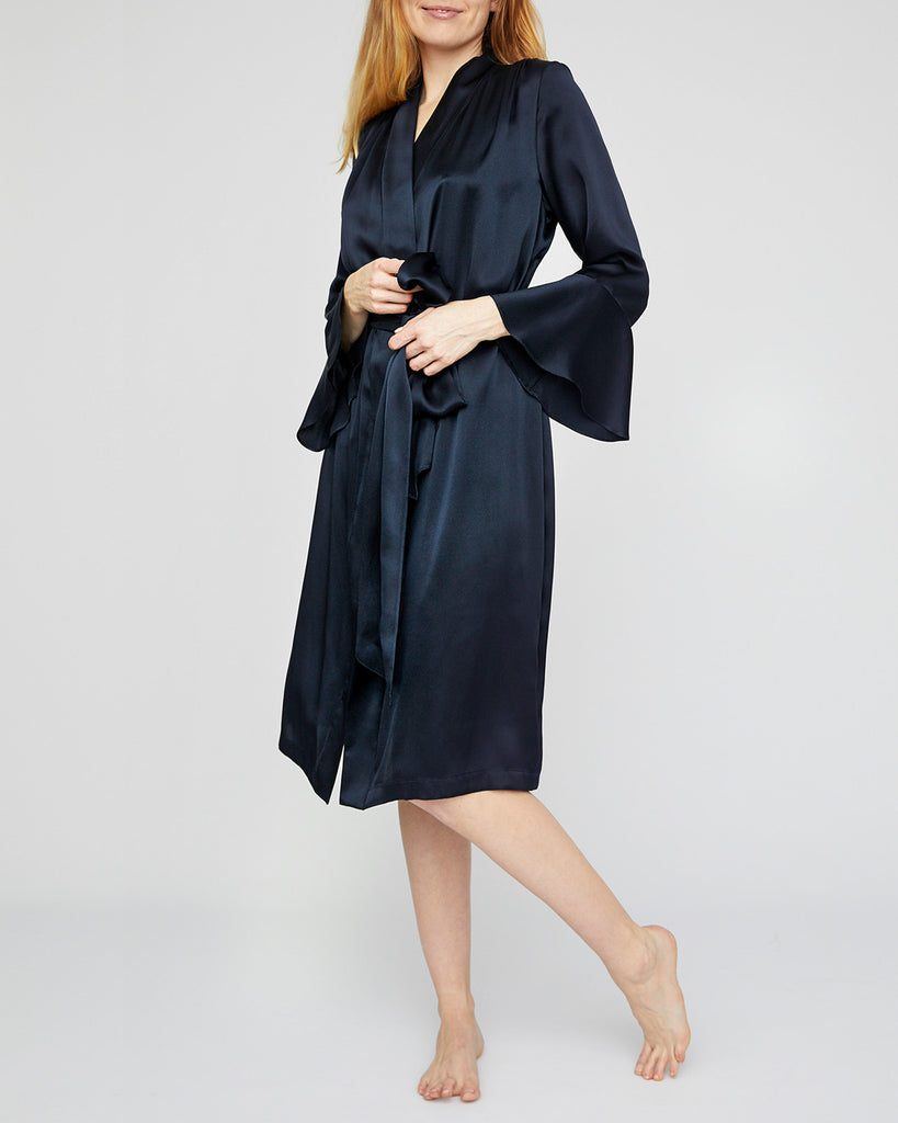The Dakota Robe in Midnight Blue - INGA-LENA